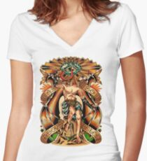 As Above So Below II Women's Fitted V-Neck T-Shirt