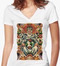 GOD II Women's Fitted V-Neck T-Shirt