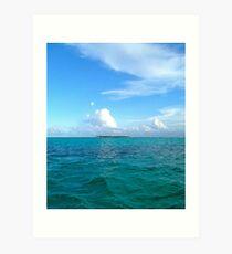Blues, Tobagos Cays Art Print