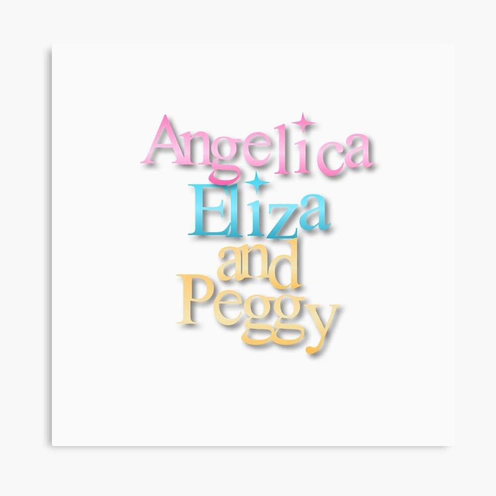 Angelica, Eliza y Peggy Lienzo