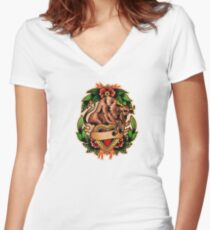 Spitshading 061 Women's Fitted V-Neck T-Shirt