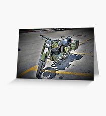 Motorcycle Mania Greeting Card