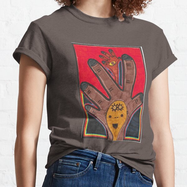 Two Hands with a Face and an Eye Classic T-Shirt