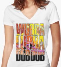 Wubba lubba dub dub Women's Fitted V-Neck T-Shirt