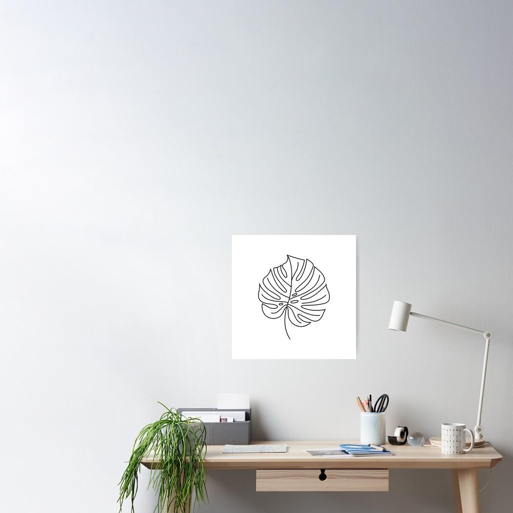Palm Line Art Poster
