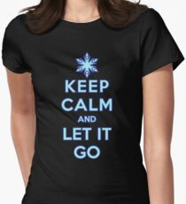 Keep Calm and Let It Go (dark background) Women's Fitted T-Shirt