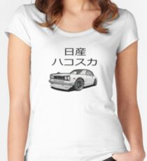 Nissan Skyline   Nissan Gtr  Nissan Hakosuka Women's Fitted Scoop T-Shirt