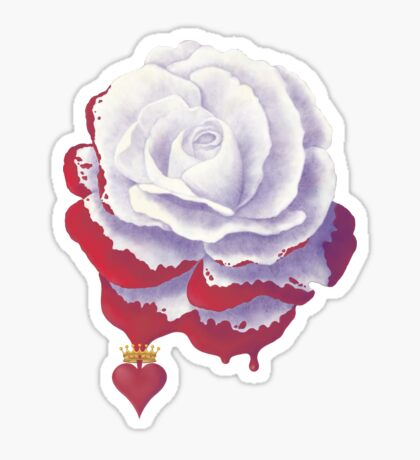 Painted Rose cut out Sticker
