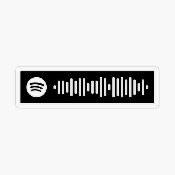 Freeze Corleone Freeze Raël Spotify Code Black Sticker transparent