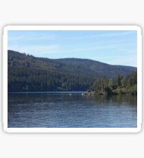 Aussicht am See Sticker