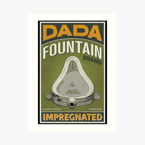 DADA Fountain Duchamp Matchbox Label Alt Art Print