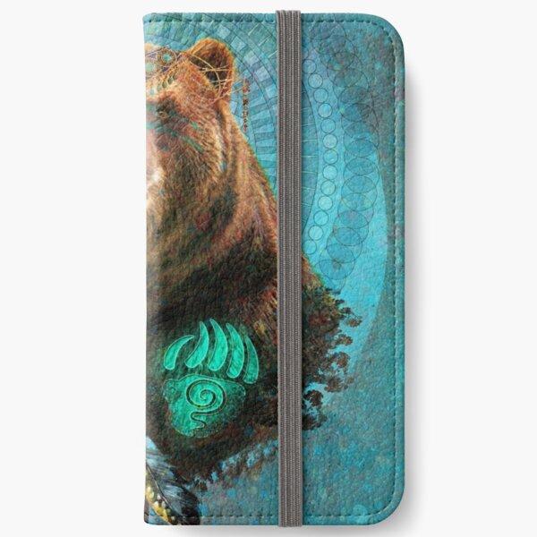 Brown Bear Spirit  iPhone Wallet