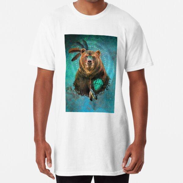 Brown Bear Spirit  Long T-Shirt
