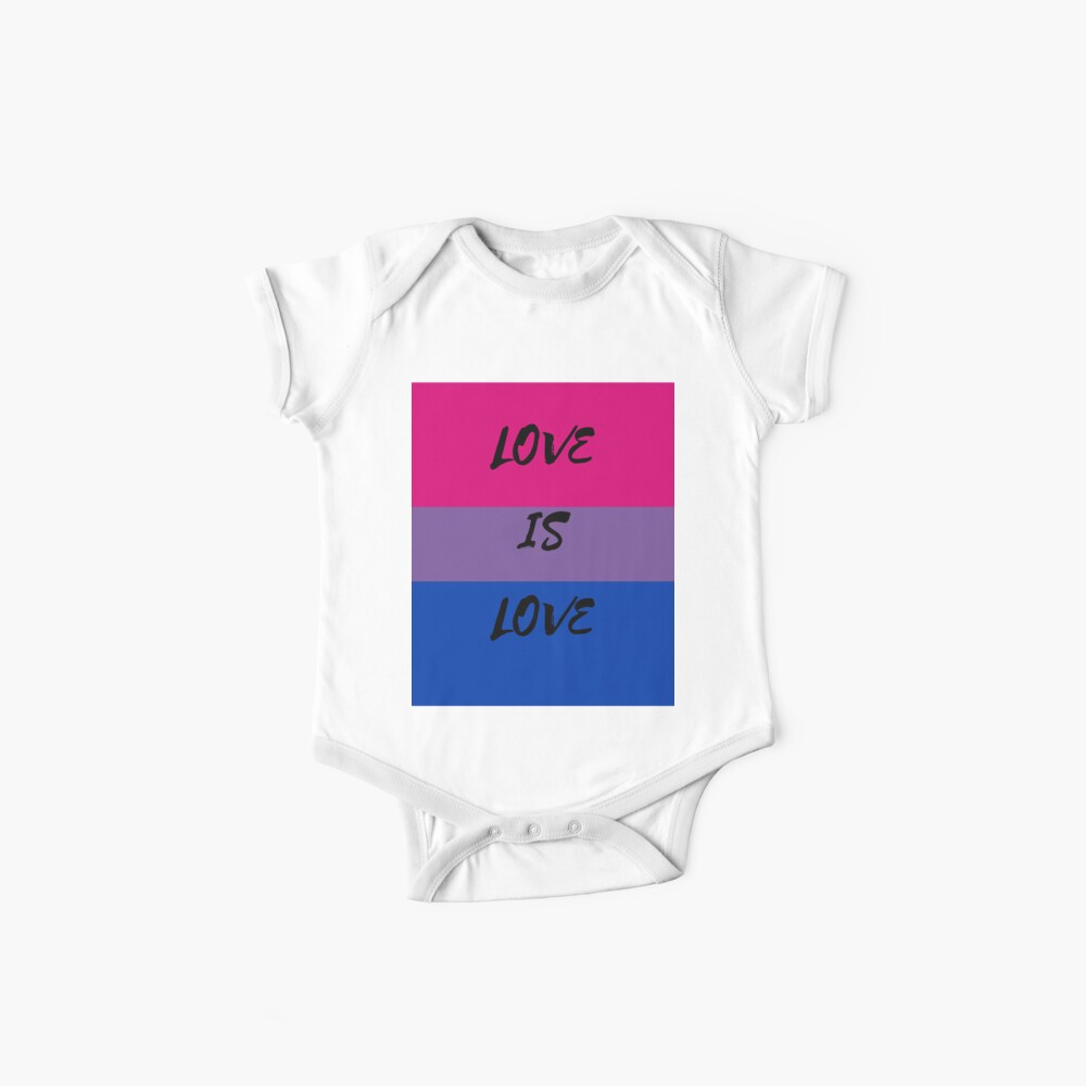 LOVE IS LOVE - bisexual flag Baby One-Piece