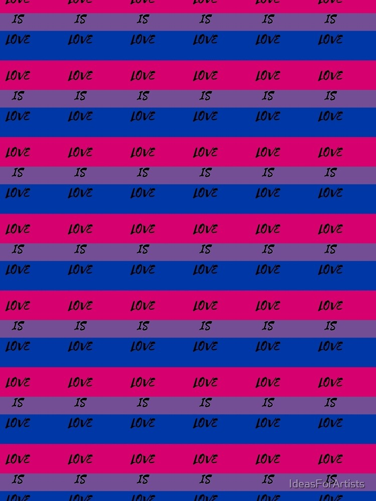 LOVE IS LOVE - bisexual flag by IdeasForArtists