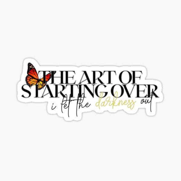 DEMI LOVATO THE ART OF STARTING OVER Sticker