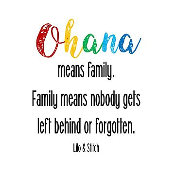 Ohana- Lilo and Stitch by collectiveminds