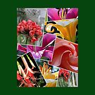 Floral Collage Throw Pillow by Pat Yager