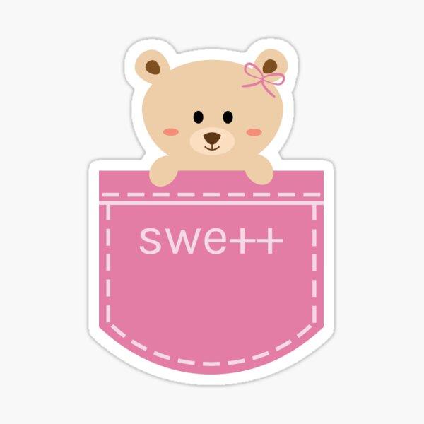 SWE++ Bear in Pocket Sticker