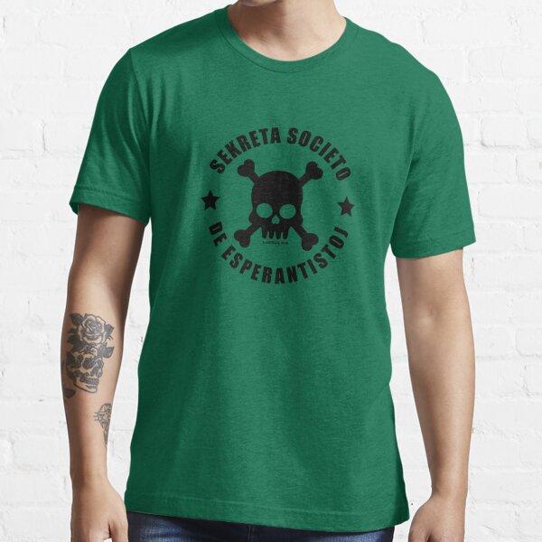 Sekreta Societo de Esperantistoj - Nigra Essential T-Shirt