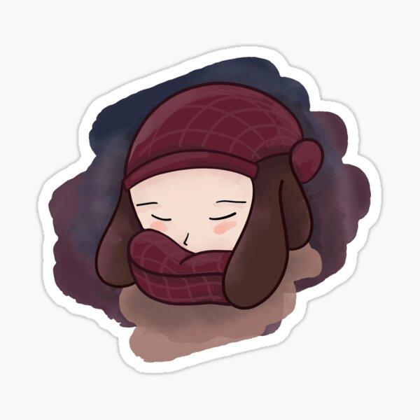 Cozy Girl Sticker