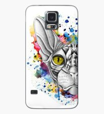 Watercolor Sphynx Cat Case/Skin for Samsung Galaxy