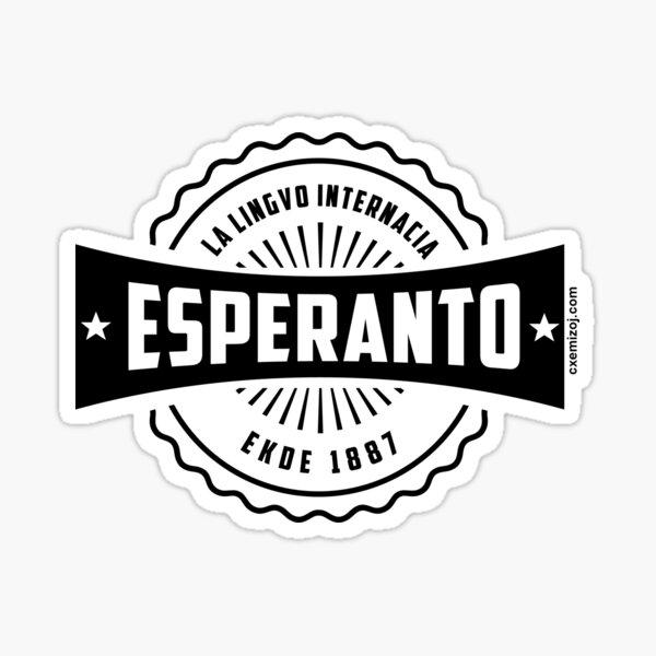 Esperanto, La Lingvo Internacia, Ekde 1887 - Nigra Sticker