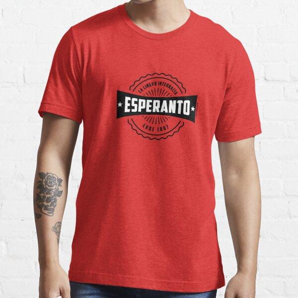Esperanto, La Lingvo Internacia, Ekde 1887 - Nigra Essential T-Shirt