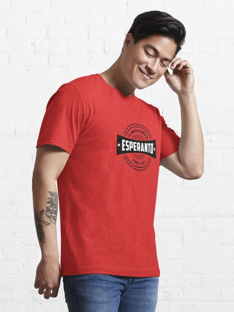 Alternate view of Esperanto, La Lingvo Internacia, Ekde 1887 - Nigra Essential T-Shirt