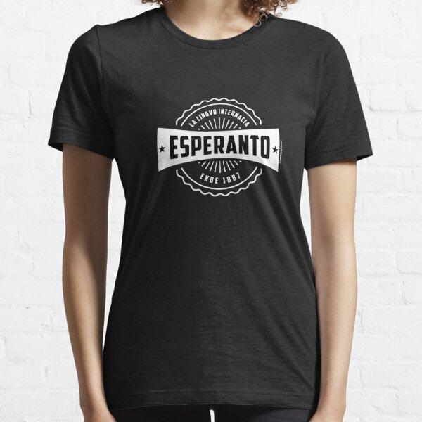 Esperanto, La Lingvo Internacia, Ekde 1887 - Blanka Essential T-Shirt