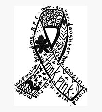 Breast Cancer Ribbon Photographic Print