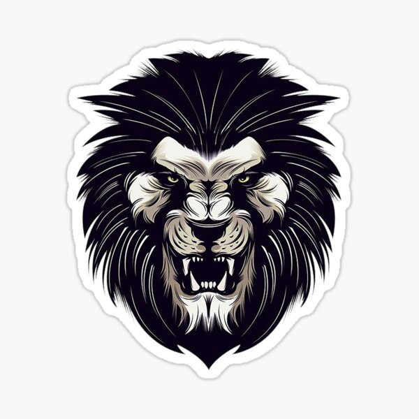 black lion king Sticker