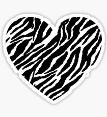 Herz Zebrastreifen. Liebe Sticker