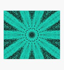 Starburst on Steroids - Aqua Photographic Print