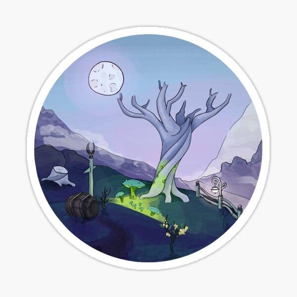 Ghost Landscape Sticker