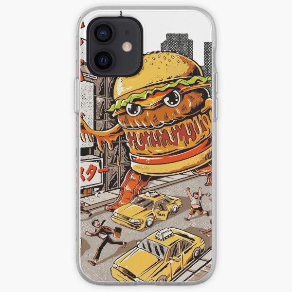 Etiqueta de hamburguesa esencial Funda blanda para iPhone