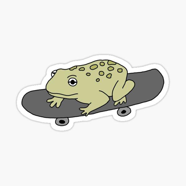 Skater Frog Sticker