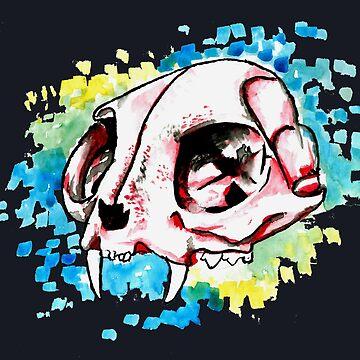 Cat Skull by mira-luan-art