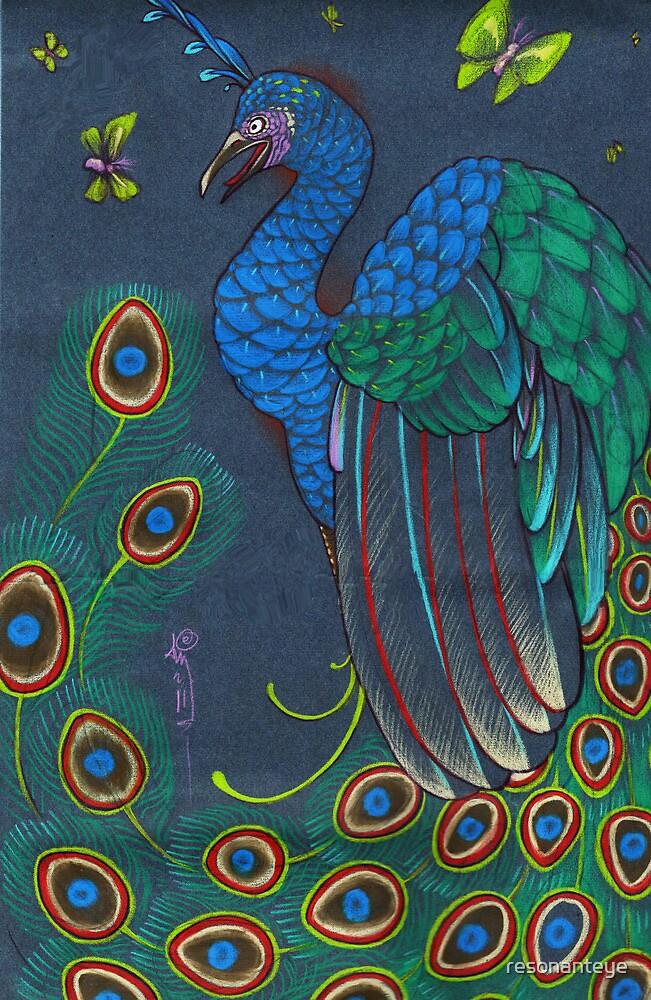 peacock rainbow by resonanteye