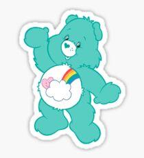 bashful heart bear Sticker