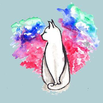 Cat in Space by mira-luan-art