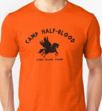 Camiseta unisex Campamento Half Blood: logotipo completo del campamento