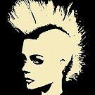 Punk Girl – bichrome print by Bela-Manson