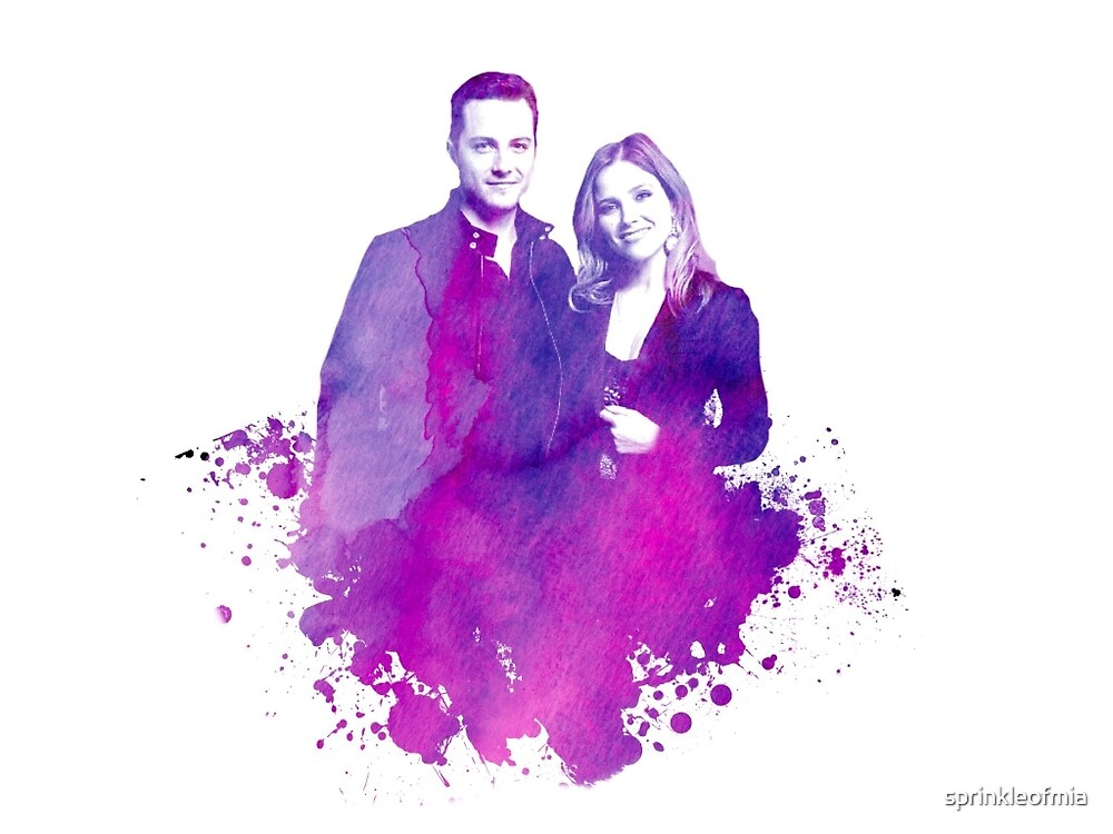 """Watercolor Linstead/Bushfer """"Chicago PD"""" by sprinkleofmia"""