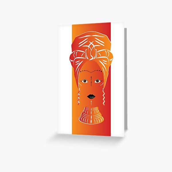 African Head Wrap Any Occasion Card (any006) Greeting Card