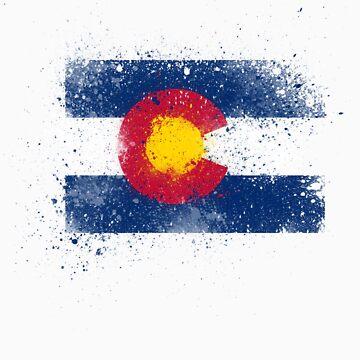 Colorado Flag Splatter by tychilcote