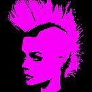 Punk Girl – pink unichrome by Bela-Manson