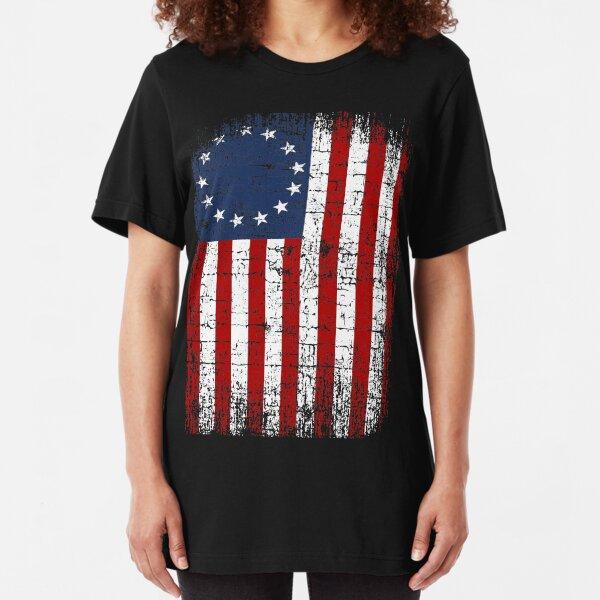 USA 13 Star 1776 Flag Slim Fit T-Shirt