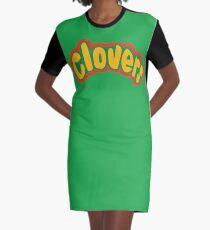 Clovers Bring It On Uniform Symbol Graphic T-Shirt Dress