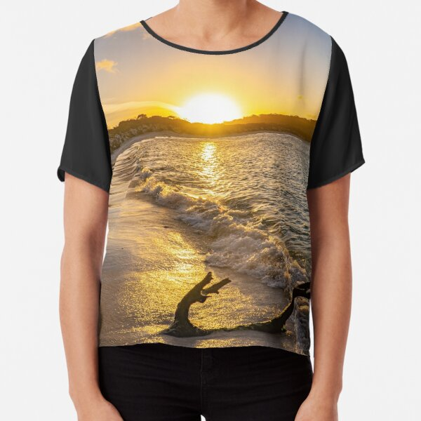 Beautiful Beach Sunset Australia Chiffon Top